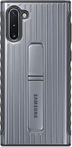 Samsung Galaxy Note10 Case, Rugged Drop Protection Cover - Silver