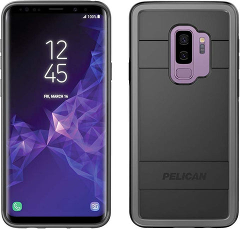 Samsung Galaxy S9 Plus Case - Pelican Protector Case for Samsung Galaxy S9 Plus (Black/Light Grey)