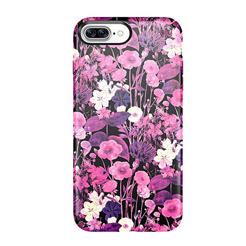 Speck Presidio Inked Cell Phone Case for iPhone 7 Plus- FlowerEtch Pink Metallic/Magenta