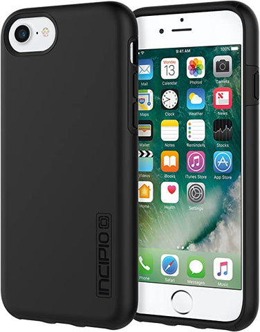 Incipio iPhone 7 Case, [Hard Shell] [Dual Layer] DualPro Case for iPhone 7-Black/Black