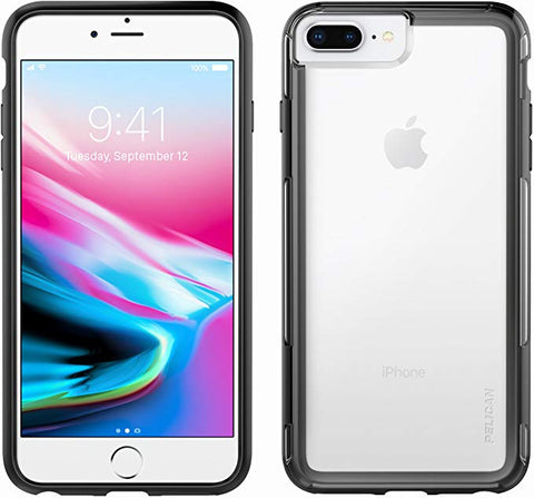 iPhone 8 Plus Case | Pelican Adventurer Case - fits iPhone 6/6s/7/8 Plus (Clear/Black)