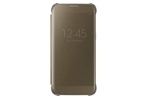 Samsung Galaxy S7 Case S-View Clear Flip Cover - Gold