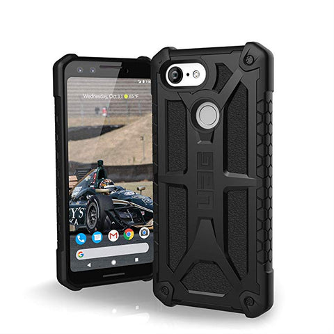 UAG Made for Google Pixel 3 [5.5-inch screen] Monarch Feather-Light Rugged [Black] Military Drop Tested Case