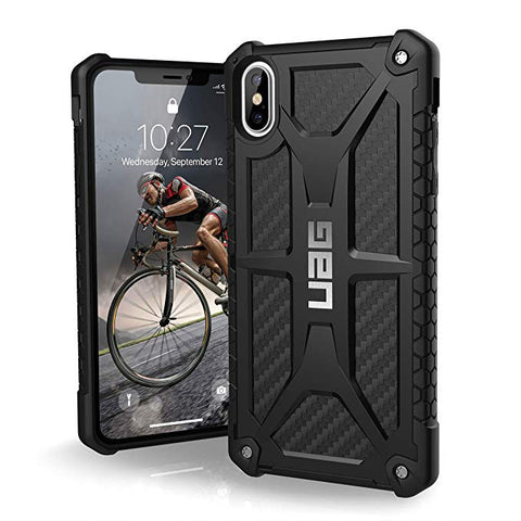 "UAG iPhone Xs Max [6.5"" Screen] Monarch Feather-Light Rugged [Carbon Fiber] Military Drop Tested iPhone Case"