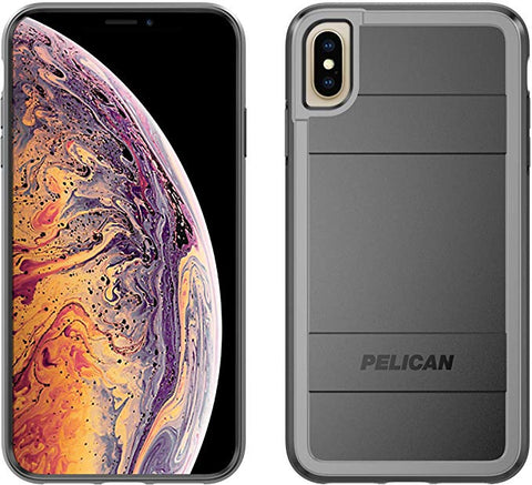 Pelican Protector+AMS iPhone Xs Max Case (Black/Light Grey)