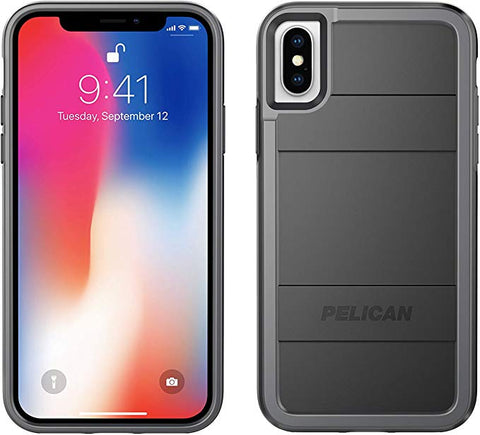 iPhone X/Xs Case | Pelican Protector iPhone X/Xs Case (Black/Light Grey)