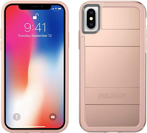 Pelican iPhone X/Xs Case | Protector iPhone X/Xs Case (Metallic Rose Gold)
