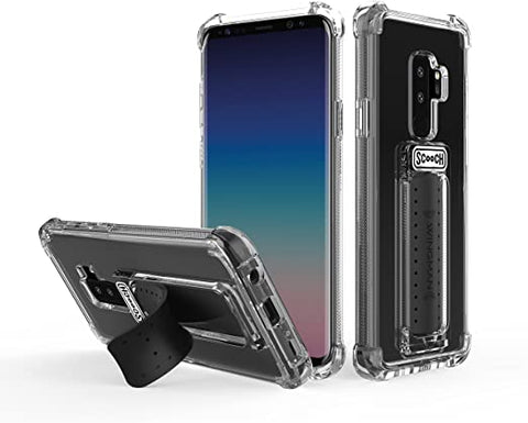 Scooch Wingman 5-in-1 Case for The Samsung Galaxy S9 Plus (Clear)