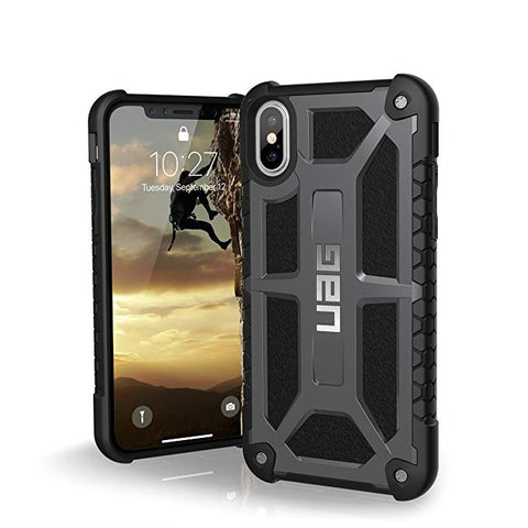UAG iPhone Xs/X [5.8-inch Screen] Monarch Feather-Light Rugged [Graphite] Military Drop Tested iPhone Case