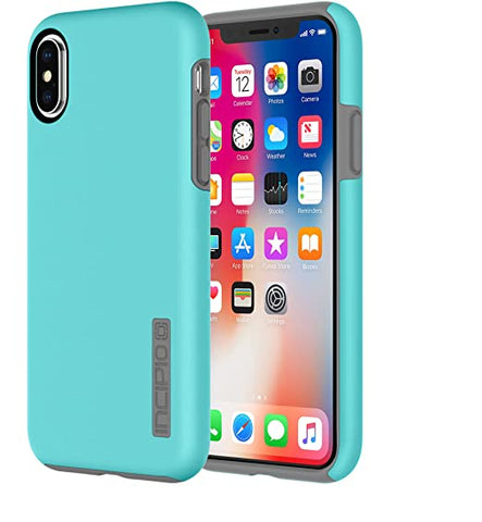 Incipio Apple iPhone X Dualpro Case - Turquoise and Charcoal