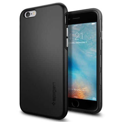 SPIGEN Thin Fit Hybrid, black - thin, elegant for APPLE iPhone 6 / 6s