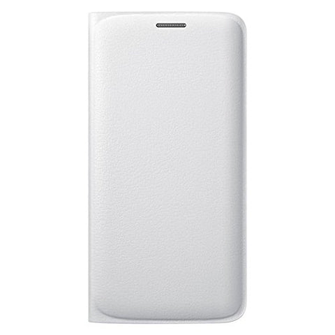 Samsung Flip Wallet PU Cover for Galaxy S6 Edge (White)