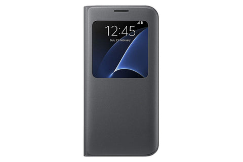 Samsung S-View Flip Cover for Galaxy S7 Edge - Black