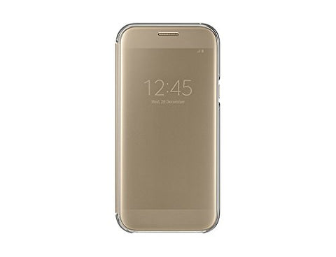 Samsung Clear View Flip Cover for Galaxy A5-2017(Gold)