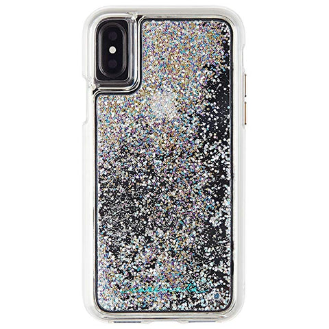 Case-Mate iPhone X Case - WATERFALL - Cascading Liquid Glitter - Protective Design - Apple iPhone 10 - Iridescent