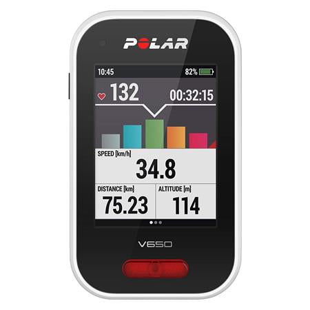 Polar V650 GPS Bike Computer with Heart Rate Monitor