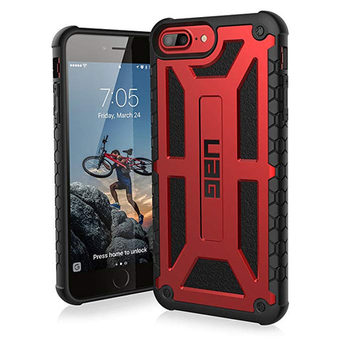 UAG iPhone 8 Plus/iPhone 7 Plus/iPhone 6s Plus [5.5-inch Screen] Monarch Feather-Light Rugged [Crimson] Military Drop Tested iPhone Case