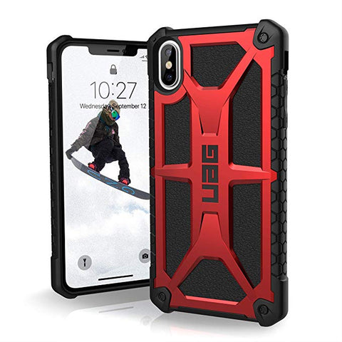 "UAG iPhone Xs Max [6.5"" Screen] Monarch Feather-Light Rugged [Crimson] Military Drop Tested iPhone Case"