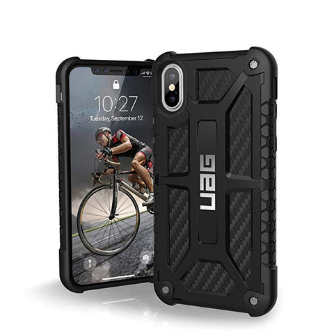 UAG iPhone Xs/X Monarch Feather-Light Rugged [Carbon Fiber] Military Drop Tested iPhone Case