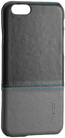 Ventev Penna, Leather Cell Phone Case for iPhone 6 - Retail Packaging - Gray/Aqua