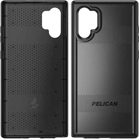 Pelican Samsung Note 10 Plus Protector Case - Military Grade Drop Tested, TPU, Polycarbonate Case for Samsung Note 10 Plus (Black) (C54000-001A-BKBK)