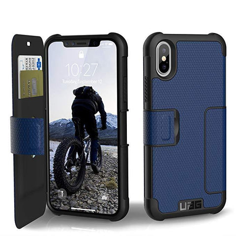 UAG Folio iPhone Xs/X [5.8-inch screen] Metropolis Feather-Light Rugged [Cobalt] Military Drop Tested iPhone Case