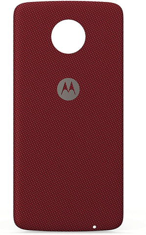 Motorola Phone Case for Moto Z, Force - Crimson Ballistic Nylon Fabric