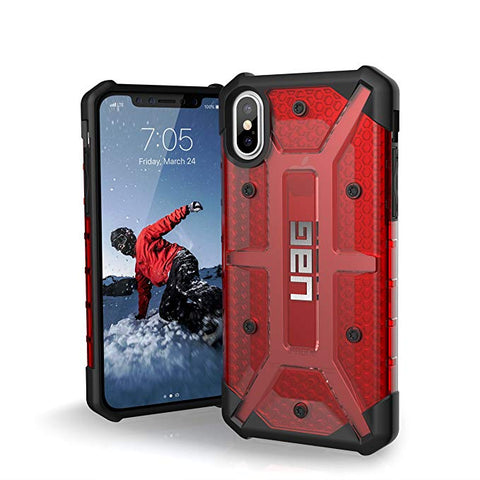 UAG iPhone Xs/X [5.8-inch Screen] Plasma Feather-Light Rugged [Magma] Military Drop Tested iPhone Case