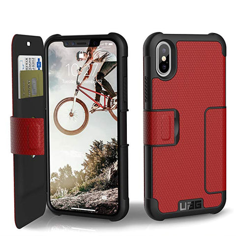 UAG Folio iPhone Xs/X Metropolis Feather-Light Rugged [Magma] Military Drop Tested iPhone Case