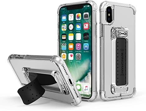 Scooch Wingman Case for iPhone Xs (Also fits iPhone X) (Clear)