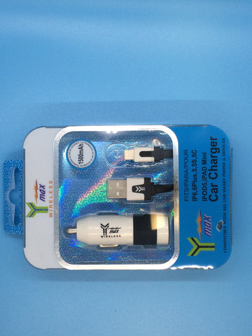 Y-Max Wireless Lightning Car Charger 1500 mAh