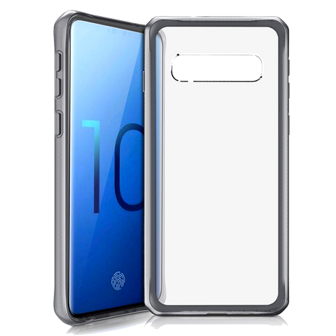 ITSKINS - Hybrid Frost MKII Case for Samsung Galaxy S10 - Black and Transparent