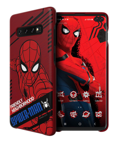 Galaxy Friends Spider-Man Far From Home Smart Cover for Galaxy S10 Plus