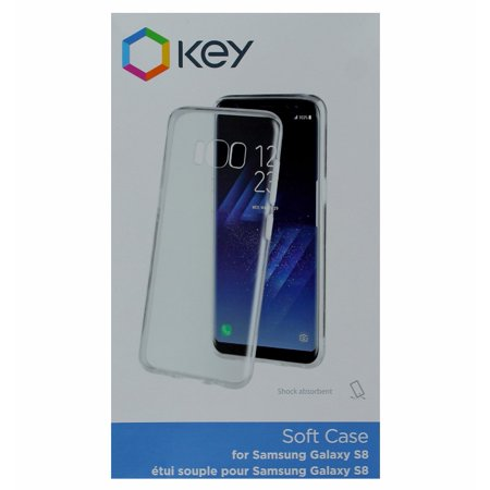 Key Soft Protective Gel Case Cover For Samsung Galaxy S8 - Clear