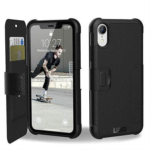 UAG iPhone XR [6.1-inch Screen] METROPOLIS Feather-Light Rugged Folio - Black
