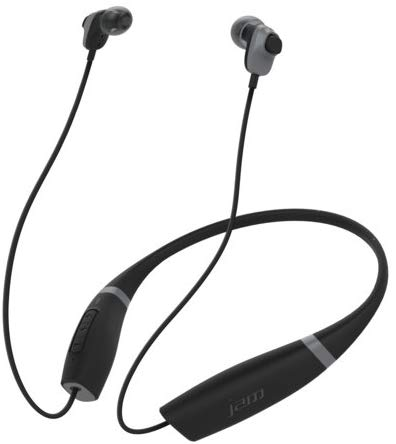 JAM Comfort Buds Collared Bluetooth Wireless Earbuds Black