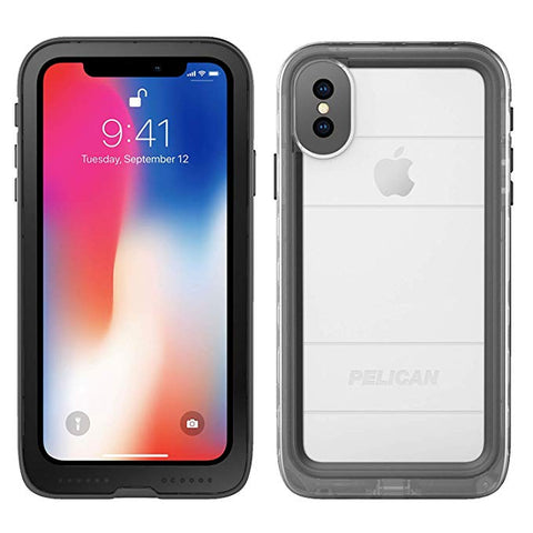 Pelican Marine Waterproof Case for iPhone X - Clear Black