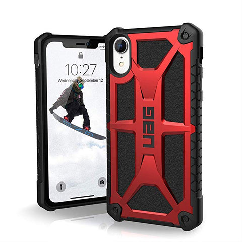 "UAG iPhone XR [6.1"" Screen] MONARCH Feather-Light Rugged - Crimson"