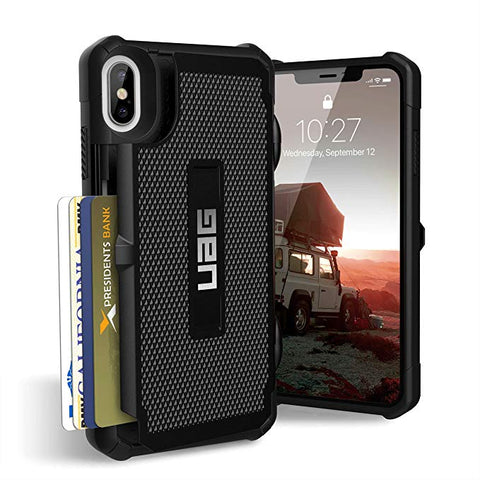 "UAG iPhone Xs Max [6.5"" Screen] TROOPER Feather-Light Rugged Card Case - Black"