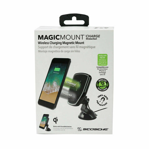 Scosche MagicMount Wireless Charging Magnetic Window / Dash
