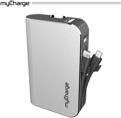 myCharge HubPlus 6,700 mAh Portable Charger with Built-In Micro-USB / USB-C