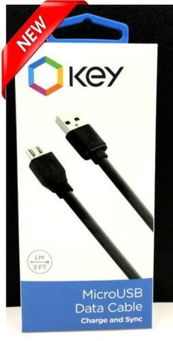 Key Micro USB Data Cable Charge and Sync for All Micro USB Devices
