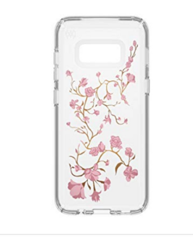 Speck Presidio Clear/Print Floral Case for Galaxy S8+