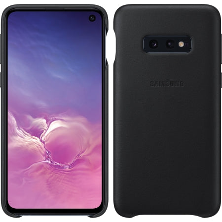 Galaxy S10e Leather Back Cover, Black