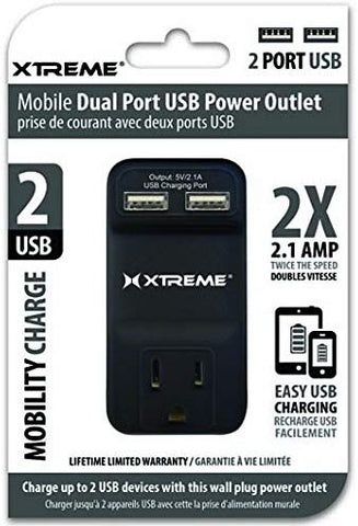 Xtreme Mobile Dual Port USB Outlet Power Strip