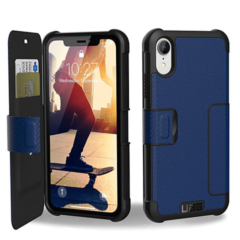 UAG iPhone XR [6.1-inch Screen] METROPOLIS Feather-Light Rugged Folio - Cobalt