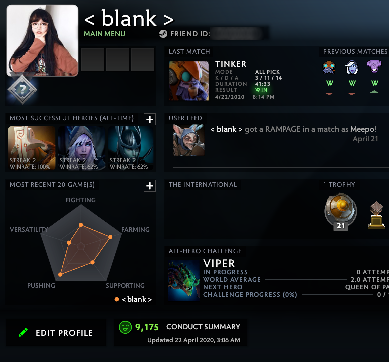 Uncalibrated | MMR: TBD - Behavior: 9175