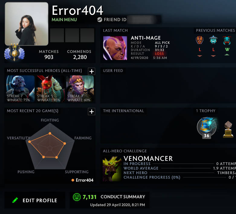 Divine III | MMR: 4850 - Behavior: 7131