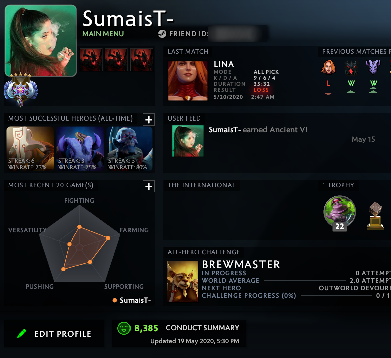 Ancient V | MMR: 4380 - Behavior: 8385