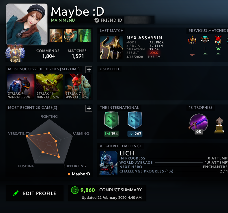 Immortal | MMR: 5920 - Behavior: 9860